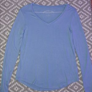 Baby blue Aeropostale seriously soft v neck tee
